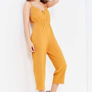 Urban Outfitters Mustard Cropped Jumpsuit